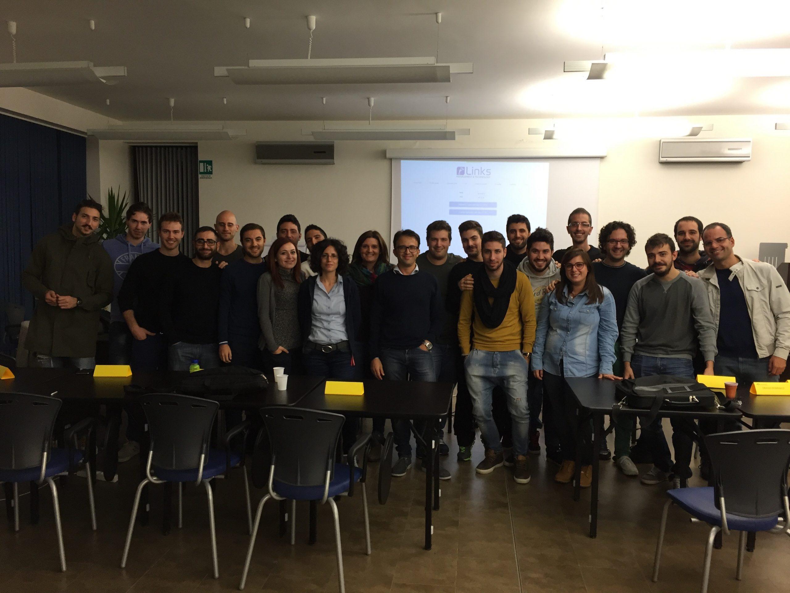 foto di classe del corso di formazione Links Academy